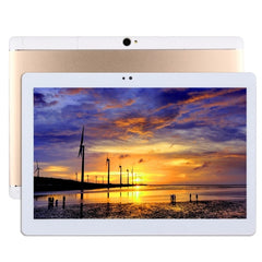 T990 10.1 inch 3G Phone Call Tablet PC 32GB Android 6.0 MTK6592 Octa Core 1.3GHz RAM: 2GB Dual SIM Support GPS Equipped with Leather Case(Gold)