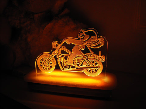 Ted the Teddy Bear Biker Night Light