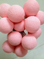 Pink 35 Electric Cotton Ball Lights