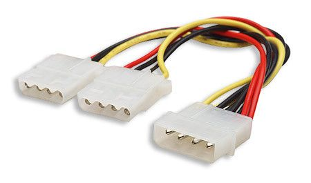 Molex Splitter Cable 1X Male 2X Female