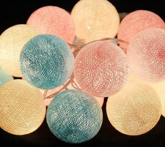 Pink and Blue LED Cotton Ball Lights
