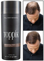 Toppik - Dark Brown 27.5g - Hair Fiber - Instant Thicker Hair for Hair Loss - (75 Days Supply)