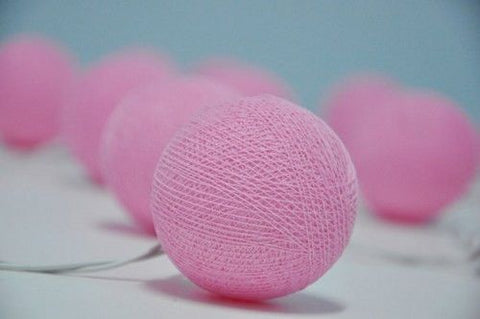 Pink LED Cotton Ball Lights