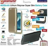 Promate aidCase-i6P 4000mAh Lithium Polymer Super Slim Battery Case - Gold - Zasttra.com