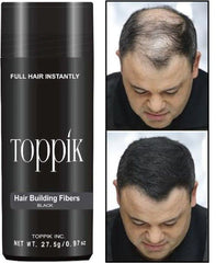 Toppik - Black 27.5g - Hair Fiber - Instant Thicker Hair for Hair Loss - (75 Days Supply)
