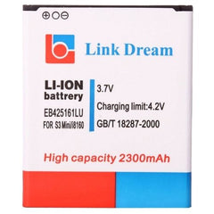 Link Dream High Quality 2300mAh Replacement Battery for Samsung Galaxy SIII Mini / i8190, i8160 (EB425161LU)