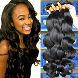 Brazilian Virgin Human Hair 8A - Body Wave - 3 Bundles