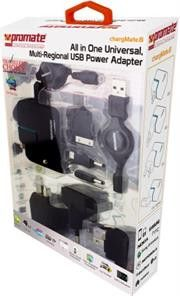 Promate Chargmate.8 All in One Multi-regional USB power adapter with dual usb charging port for Mobile phones