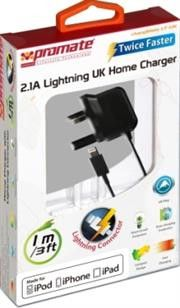 Promate ChargMateLT-UK Multifunction Lightning Home charger for iPad