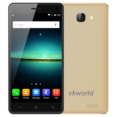 VKworld T5 SE 8GB, Network: 4G, 5 inch Android 5.1 MTK6735 Quad Core 1.0GHz, RAM: 1GB, Support GPS, Mobile AP(Gold)