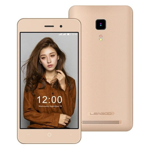LEAGOO Z1, Network: 3G, 3.97 inch Andriod 5.1 MTK6580M Cortex A7 Quad Core 1.3GHz(Gold)