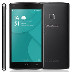 DOOGEE X5 MAX 8GB, Network: 3G, 4000mAh Battery 360 Degrees Fingerprint, 5.0 inch Android 6.0 MTK6580 Quad Core 1.3GHz, RAM: 1GB(Black)