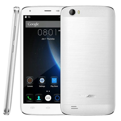 DOOGEE T6 Pro 32GB, Network: 4G, 6250mAh Big Battery, 5.5 inch Android 6.0 MTK6753 Octa Core 1.5GHz, RAM: 3GB(White)