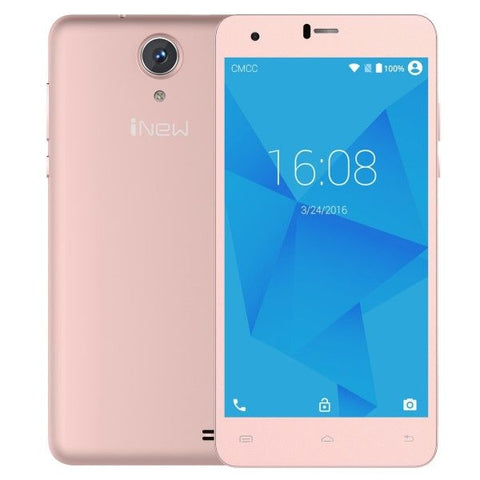 iNew U8W 8GB, Network: 3G, 5.5 inch 2.5D Android 5.1 MTK6580 Quad Core 1.3GHz, RAM: 1GB, GPS(Rose Gold)