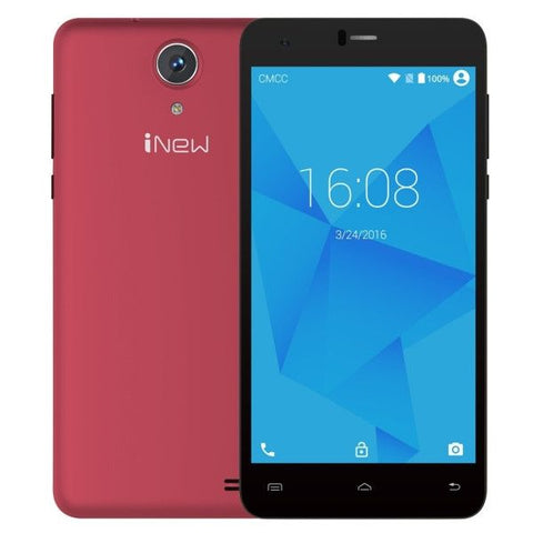 iNew U8W 8GB, Network: 3G, 5.5 inch 2.5D Android 5.1 MTK6580 Quad Core 1.3GHz, RAM: 1GB, GPS(Red)