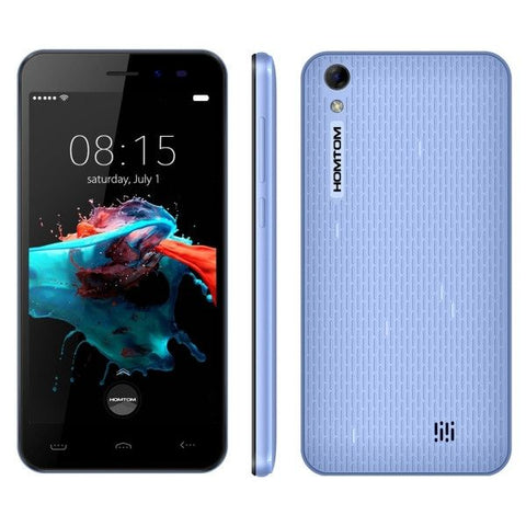 HOMTOM HT16 8GB, Network: 3G, 5.0 inch Android 6.0 MTK6580 Quad Core 1.3 GHz , RAM: 1GB(Blue)