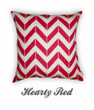 Chevron Hearty Red Cushion Cover