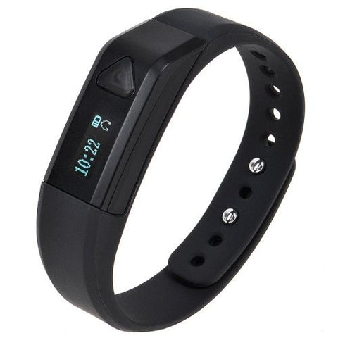 Bluetooth 4.0 Smart Wristband Bracelet Sports Sleep Tracking Health Fitness, Waterproof / Dustproof: IP67, CL-B103(Black)