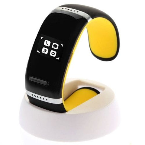 L12S Smart Touch Bracelet Watch (Yellow)