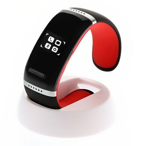 L12S Smart Touch Bracelet Watch (Red)