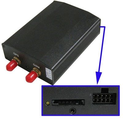 GPS/GSM/GPRS Vehicle tracker(Black)