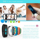 E02 Bluetooth 4.0 Smart Wacth Sports Bracelet(Blue) - Zasttra.com - 9