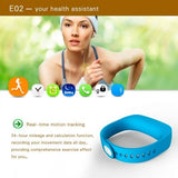 E02 Bluetooth 4.0 Smart Wacth Sports Bracelet(Blue) - Zasttra.com - 8