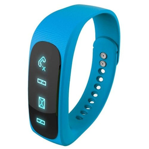 E02 Bluetooth 4.0 Smart Wacth Sports Bracelet(Blue)