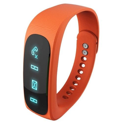 E02 Bluetooth 4.0 Smart Watch Sports Bracelet (Orange)