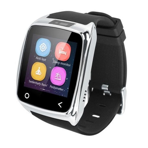 i8 1.54 inch Touch Screen Bluetooth V4.0 Smart Watch, Support Pedometer / Sleep Monitoring / Remote Capture / Receive Call / Anti-lost(Silver)
