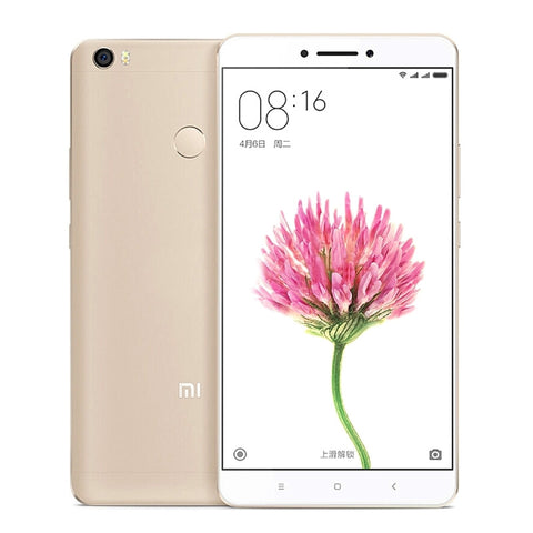 Xiaomi Max 64GB, Network: 4G, Fingerprint Identification, Infrared Remote, 4850mAh Battery, 6.44 inch MIUI 8, Snapdragon 652 Otca Core up to 1.8GHz, RAM: 3GB(Gold)