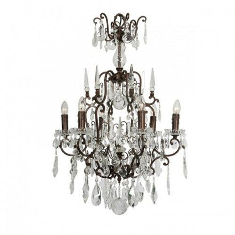 French Chandelier - Crystals all the way 6-lights