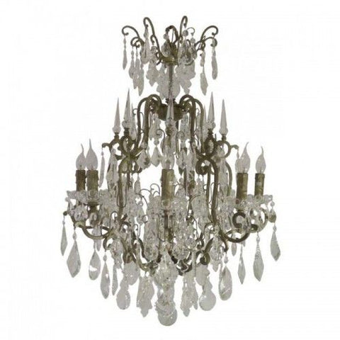French 'Allemagne' German Silver Chandelier