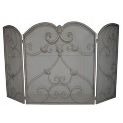 Ornate fire screen - Beige