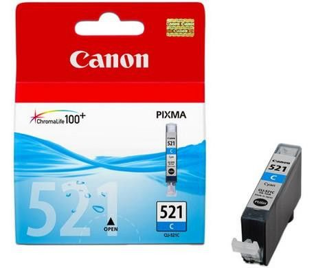 Original Canon CLI-521 Cyan Ink Cartridge