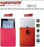 Promate iSlim.3 new iPad  iPad 2 protective easy pull shamwa leather case-Orange Retail Box 1 Year Warranty