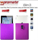 Promate iSlim.3 new iPad  iPad 2 protective easy pull shamwa leather case-Purple Retail Box 1 Year Warranty