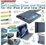 Promate iPose.14-Elegant Soft Cover and Stand for the iPad 2 and new iPad -Dark Blue - Zasttra.com