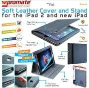 Promate iPose.14-Elegant Soft Cover and Stand for the iPad 2 and new iPad -Dark Blue