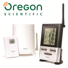 Wireless Rain Gauge with Outdoor Thermometer - Oregon Scientific