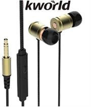 Kworld KW-S25 In-Ear Elite Mobile Gaming Earphones Stereo Silicone Earbuds with In-line intelligent Control Microphone