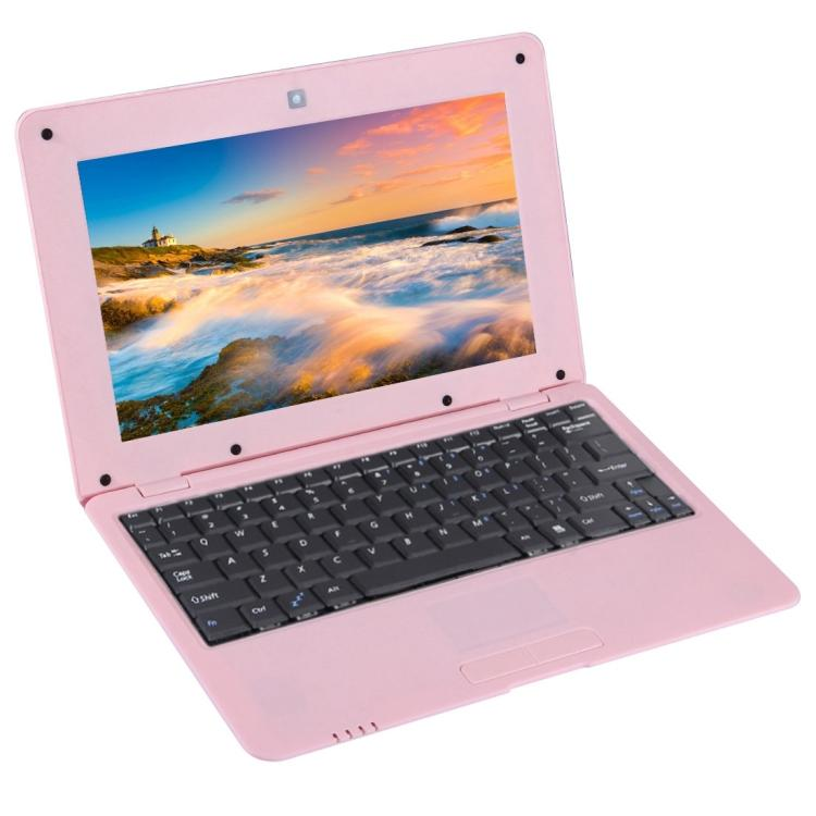 Laptops TDD-10.1 Netbook PC, 10.1 inch, 1GB+8GB, Android 5.1 ATM7059 Quad Core 1.6GHz, BT, WiFi, SD, RJ45(Pink)
