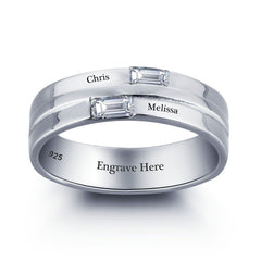 Sterling Silver Band - Engraved with Your Words