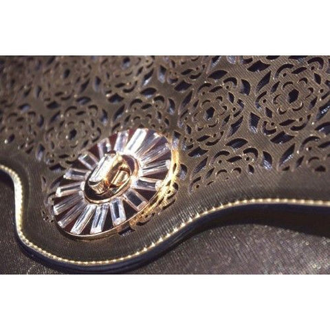 Gold fold-over fashion wallet