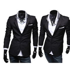 New Black Stylish Collar Fashion Blazer