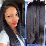 Brazilian Virgin Human Hair 8A - Straight - 3 Bundles