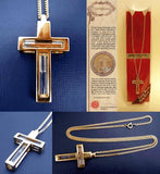 Holy Jordan River Gold Cross pendant