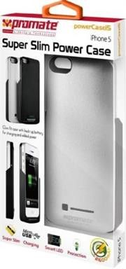 Promate PowerCasei5 iPhone 5 Slim-fit cutaway design case with in-built 2600mAh battery Colour:Silver