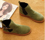 Suede Leather Fashion Ankle Boots Women