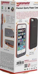 Promate Force.i5 iPhone 5 Premium 2200mAh Premium Sporty Back-up Battery Case for iPhone 5/5s Colour:Grey
